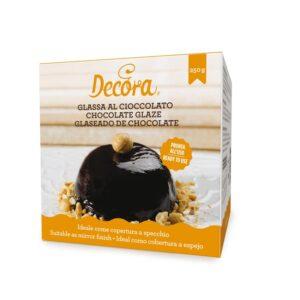 Glassa al cioccolato per copertura a specchio Decora - 250 gr