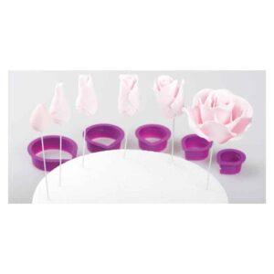 Kit tagliapasta petali rosa e sepalo Decora