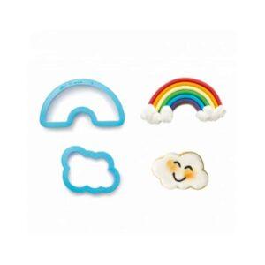 Kit 2 tagliapasta arcobaleno e nuvole Decora