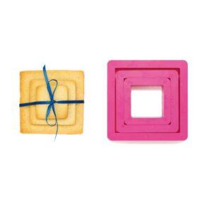 Set 3 tagliapasta quadrato Decora