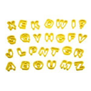 Set 36 tagliapasta lettere e numeri piccoli