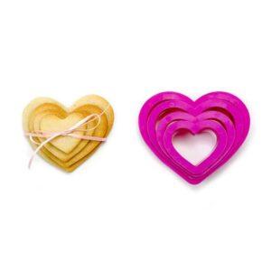 Set 4 tagliapasta cuore Decora