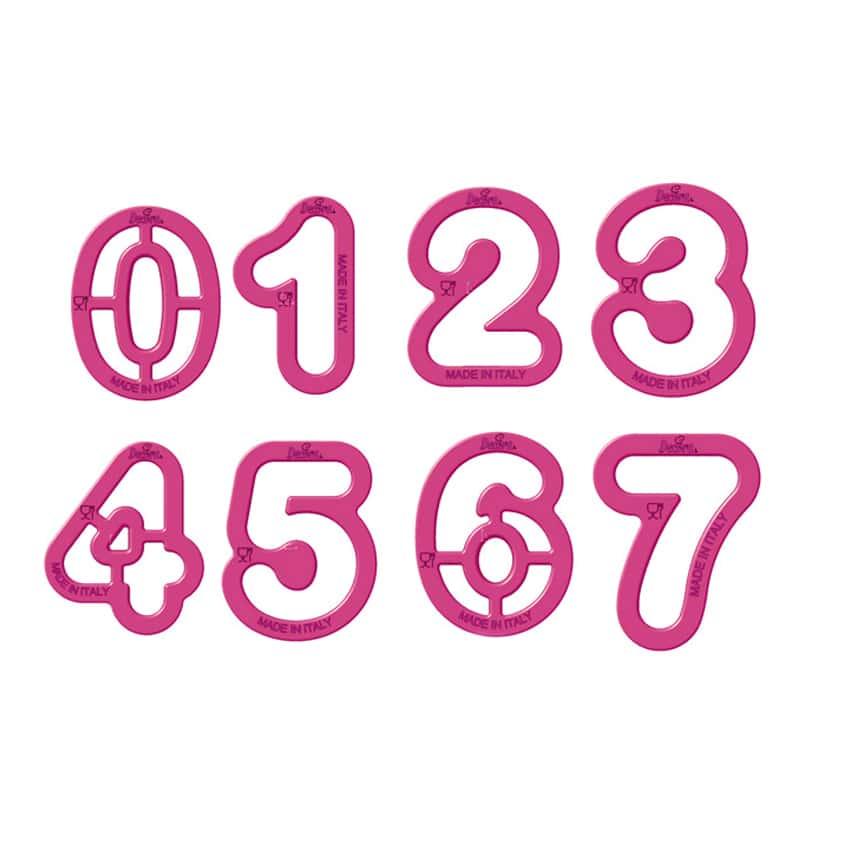 Set 9 tagliapasta numeri grandi Decora