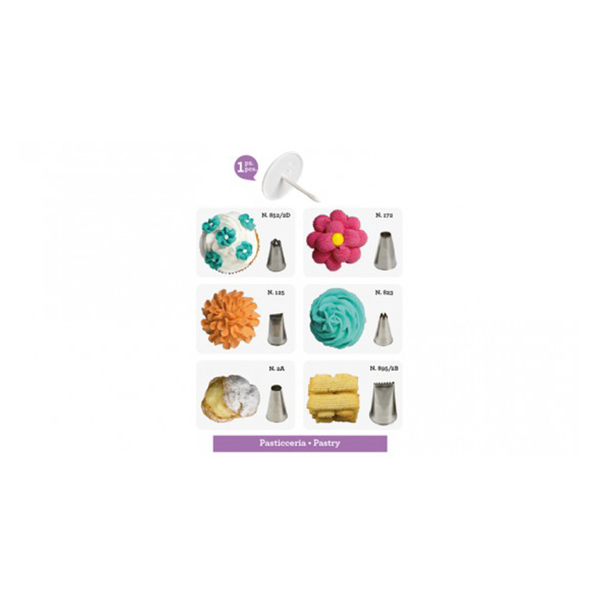 Set 7 pz bocchette pasticceria Decora