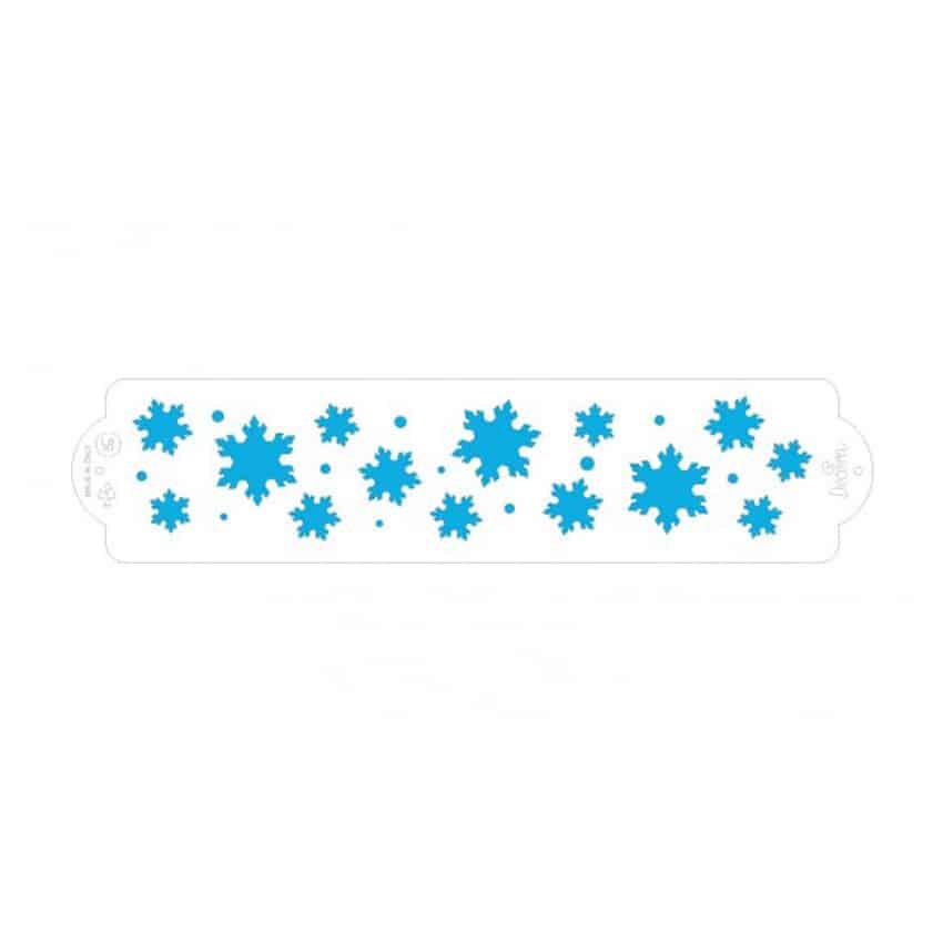 Stencil frozen star 7x30 cm Decora