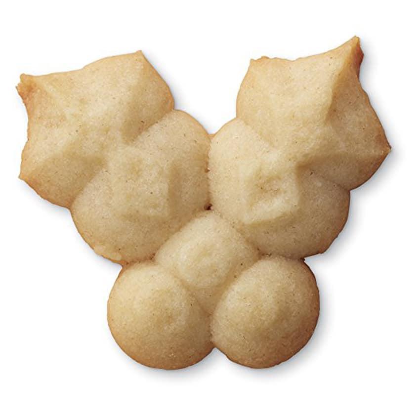 Trafila natalizia per biscotti agrifoglio
