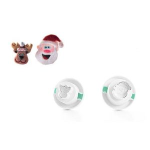 Set 2 Tagliapasta Santa Claus Silikomart TAG09