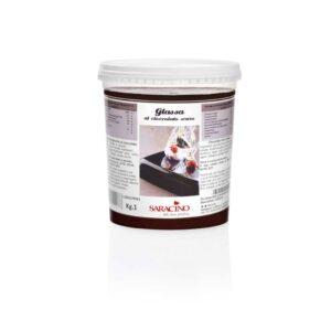 Glassa lucida al ciocolato scuro Saracino - 1 Kg