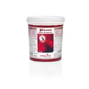 Glassa lucida alla fragola Saracino - 1 Kg
