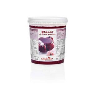 Glassa lucida ai frutti di bosco Saracino - 1 Kg