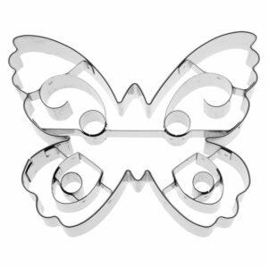 Stampino per biscotti in acciaio farfalla grande