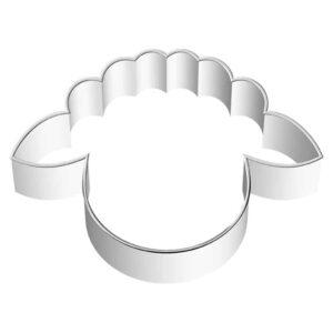 Stampino per biscotti in acciaio testa agnellino