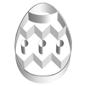 Stampino per biscotti in acciaio uovo decorato
