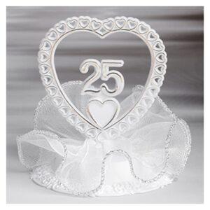 Cake topper decorazione anniversario 25