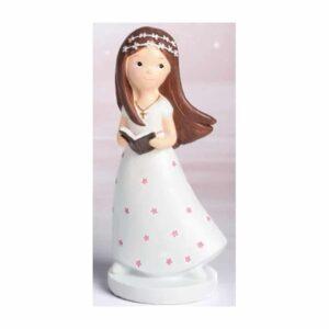 Cake topper decorazione comunione bambina