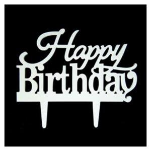 Cake topper decorazione happy birthday con pick