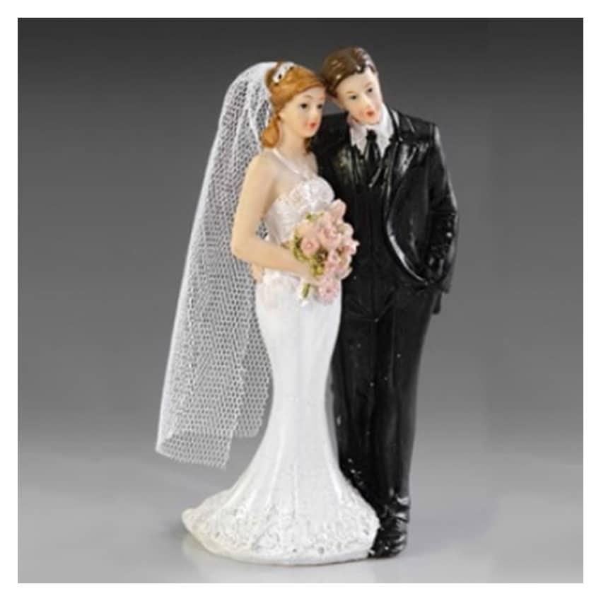 Cake topper sposi abito a sirena