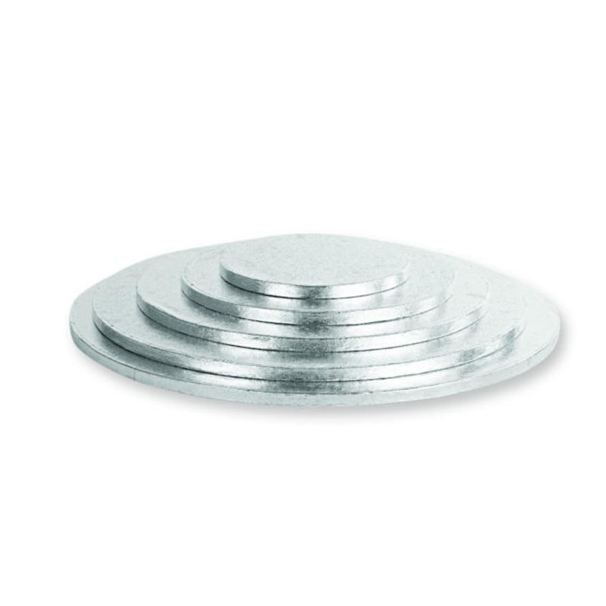 Sottotorta tondo argentato h 1,2 cm Decora