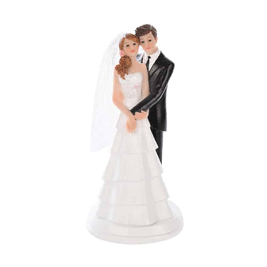 Cake topper sposi romantici abbraccio