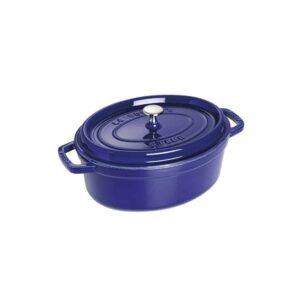 Cocotte ovale blu in ghisa smaltata Staub