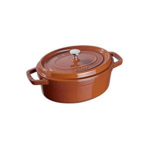 Cocotte ovale cannella in ghisa smaltata Staub
