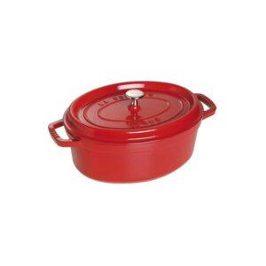 Cocotte ovale rossa in ghisa smaltata Staub