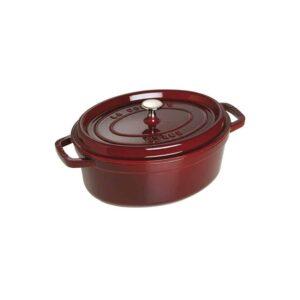 Cocotte ovale Rosso Granato in ghisa smaltata Staub