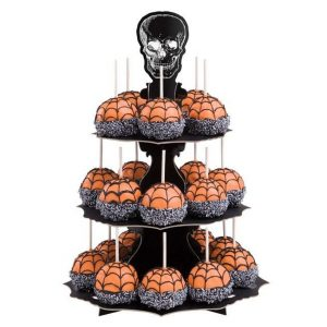 Alzatina portamuffin con teschio di Halloween 3 piani Wilton