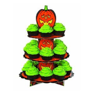 Alzatina portamuffin con zucca di Halloween Wilton