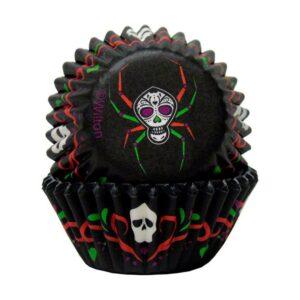 Mini pirottini neri con ragno di Halloween Wilton
