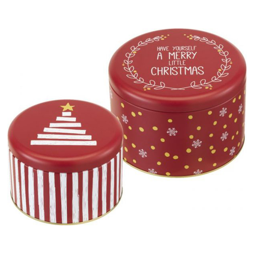 Set 2 scatole per biscotti Little X-Mas Birkmann