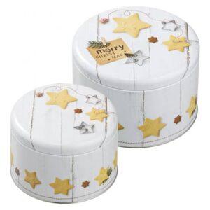 Set 2 scatole per biscotti Merry X-Mas Birkmann