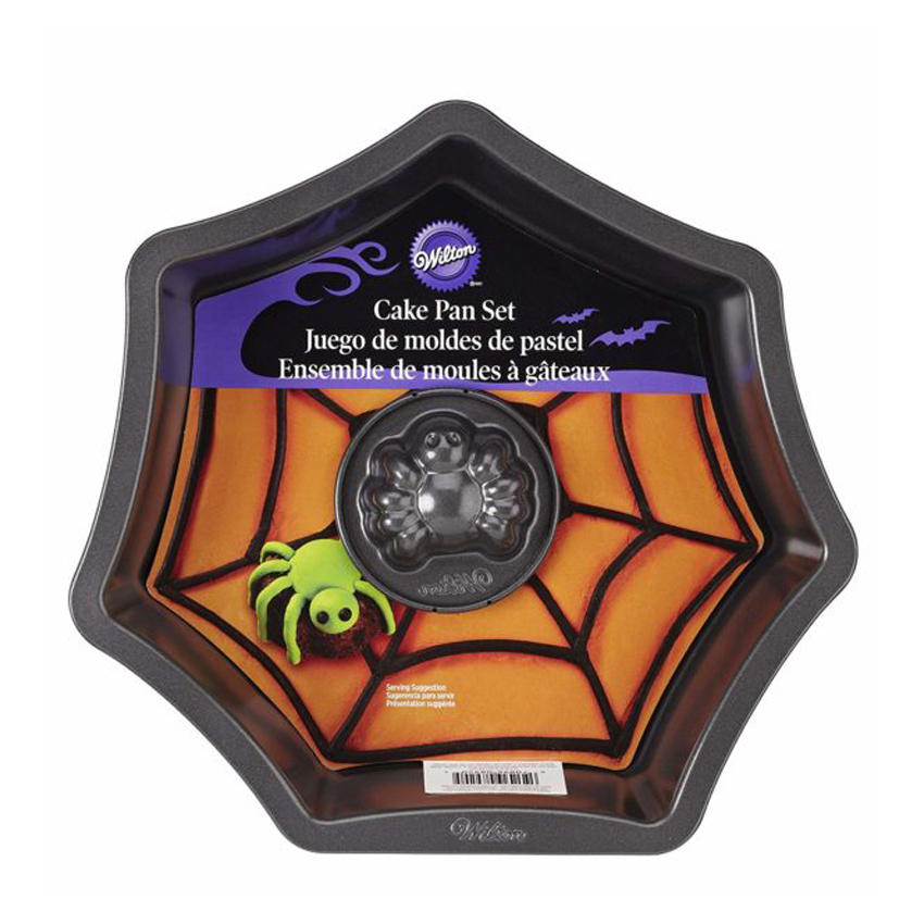 Stampo antiaderente ragnatela con ragno Halloween Wilton