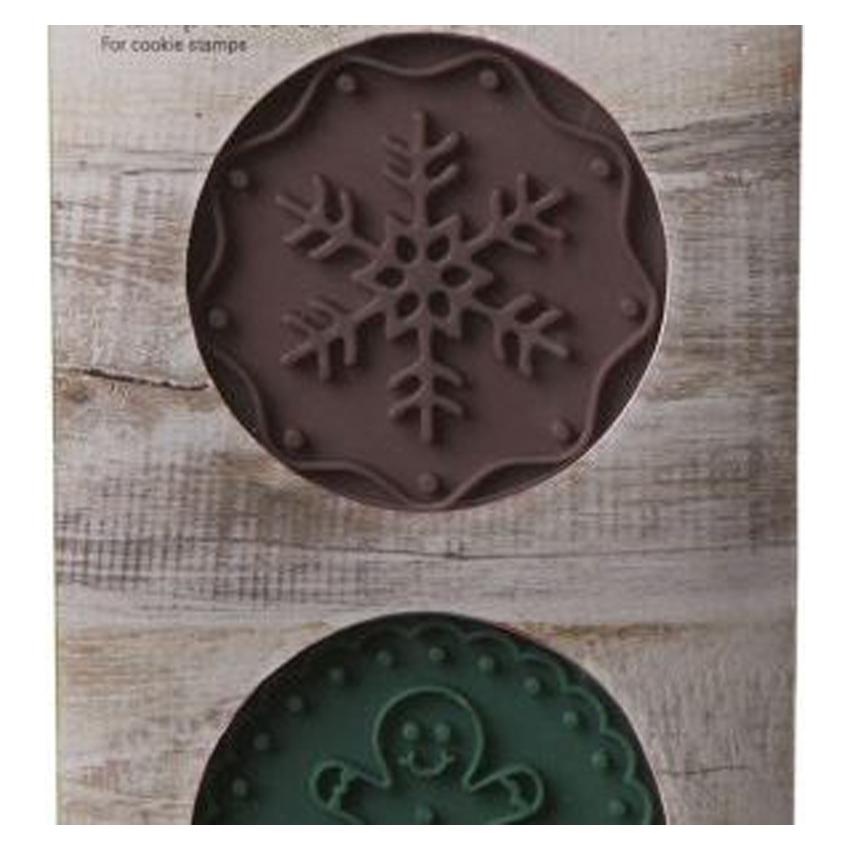Dischi Gingerbread e Fiocco di Neve per timbro Birkmann