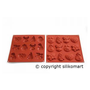 Stampo in silicone My Winter Cookies HSH04 Silikomart