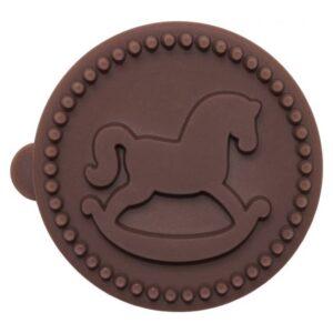 Timbro rotondo Cavallo a Dondolo per biscotti Birkmann