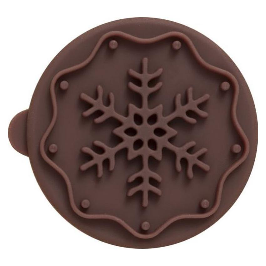 Timbro rotondo Fiocco di Neve per biscotti Birkmann