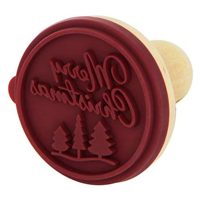 Timbro rotondo Merry Christmas per biscotti Birkmann