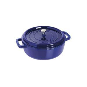 Cocotte bassa blu in ghisa smaltata Staub