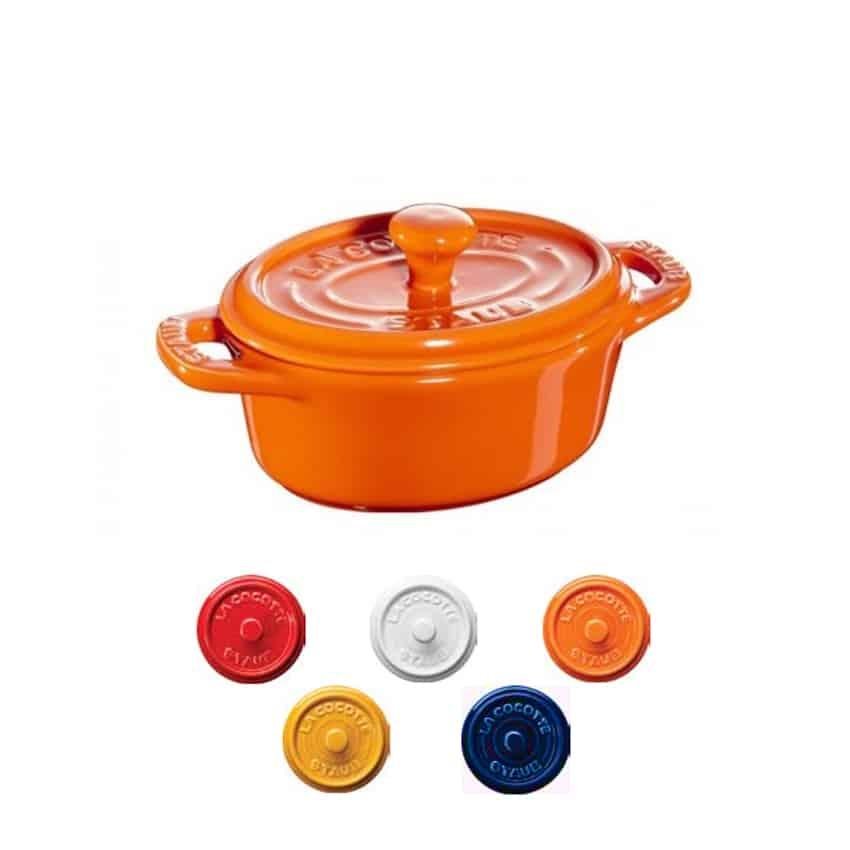 Mini cocotte ovale in ceramica Staub arancio