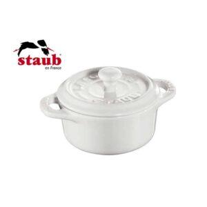 Mini cocotte tonda in ceramica Staub bianco