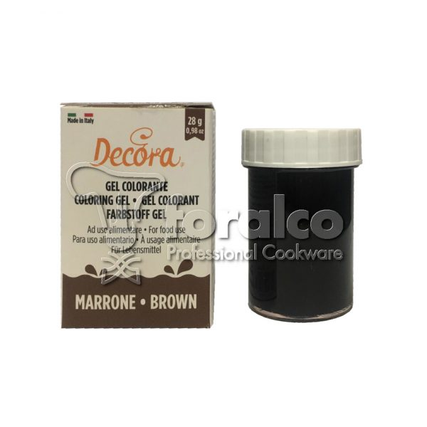 Colorante in gel Marrone Decora 28 g