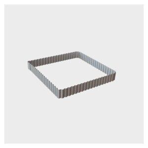 Quadrato microforato festonato 23 x h 3 cm inox de Buyer