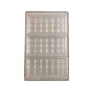Stampo 3 tavolette 150x69 mm in policarbonato