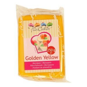 Marzapane giallo oro Golden Yellow Funcakes 250 gr