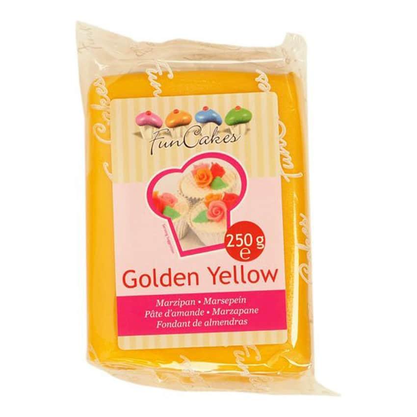Marzapane giallo oro Golden Yellow Funcakes 250 gr