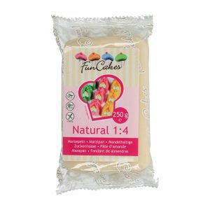 Marzapane naturale Natural 1:4 Funcakes 250 gr