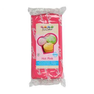 Pasta di zucchero da copertura fucsia Hot Pink Funcakes - 1 kg