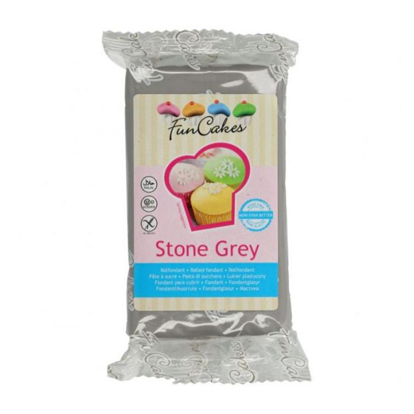 Pasta di zucchero Grigia da copertura Stone Grey Funcakes 250 gr