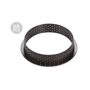 Set 6 anelli tarte ring round 80 Silikomart